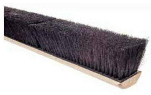 """Magnolia Brush #1018 18"""" Push Broom Floor Sweep Black Tampico Fiber Broom Head"""