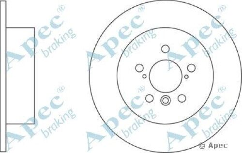 1x OE Quality Replacement Rear Axle Apec Solid Brake Disc 5 Stud 288mm - Single