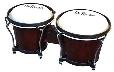 Dark Wood PRO BONGOS Mini Conga Drum Set Studio Band Musical Instruments Bongo Mini Conga Drum