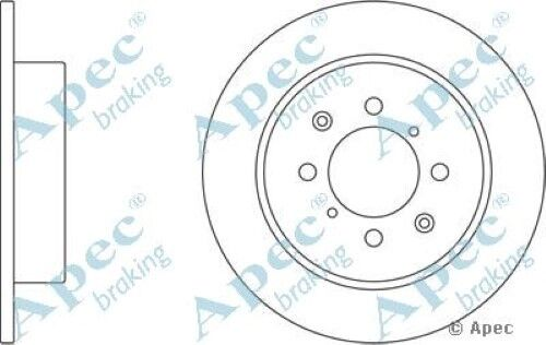 1x OE Quality Replacement Rear Axle Apec Solid Brake Disc 4 Stud 260mm - Single