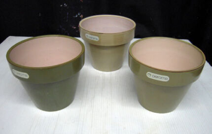 New Deroma flower pots $12 set of 3 Albion Brisbane North East Preview