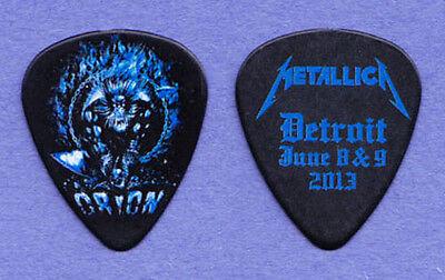 Metallica James Hetfield Orion Festival Black Guitar Pick 2013 Tour Detroit