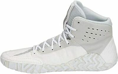 ASICS Aggressor 4 Men's Synthetic & Mesh White/Black Wrestling Shoes US 13...