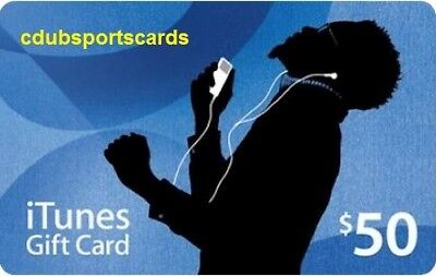 APPLE $50 US iTUNES Anniversary card GIFT CERTIFICATE - FAST FREE WORLDWIDE DELIVERY