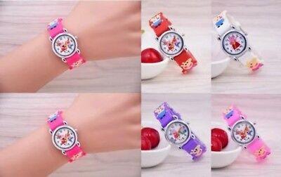 Neue Mädchen Kids Kinder Peppa Pig Cartoon Party Damen Geschenk Armbanduhr