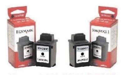 13400hc Tinte (2 x Original LEXMARK 13400HC Jetprinter 1000 1020 1100 2030 3000 - 15M0640 Tinte)