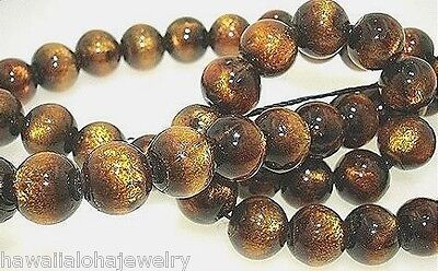 (5) 8MM LOOSE ROUND PACIFIC BLACK CORAL MODIFIED TO GOLDEN CORAL CRAFTING BEADS