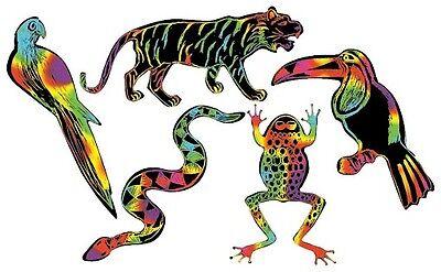 Scratch Art Scratchin' Shapes - Rain Forest 1-Pack 25 piece 5 Multicolor Designs (Scratch Art Designs)