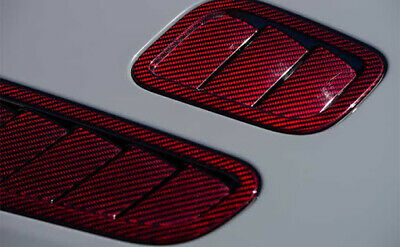 Red Sewing Carbon Fiber Water Transfer Dipping Hydrographic Hydro Film 0.5x2m