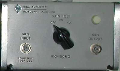 Hp Agilent 461a Low Noise Rf Amplifier