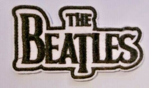 "The Beatles Embroidered Patch 3.2"" NEW Band John Lennon Paul McCartney Blk Wht"