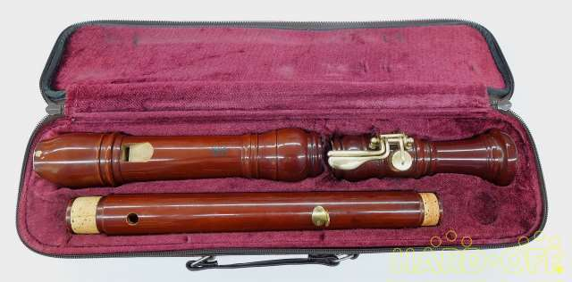 YAMAHA YRT-43 M Tenor baroque Recorder Maple Double Holes brown case Used #2