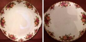 Pair of Royal Albert Cake Plates