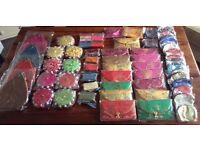 Car Boot Job Lot - Oriental Satin Purses & Bags Etc.