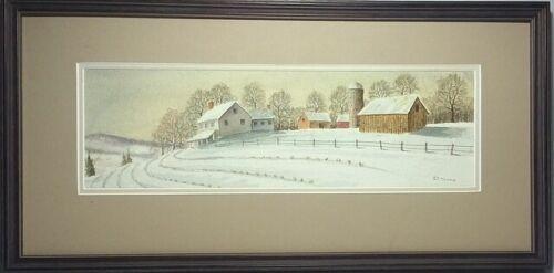 Original Framed Watercolor