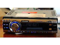 Pioneer car audio unit with harness dvd playback mp3