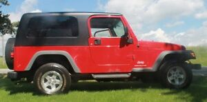 Jeep LJ Extended version of TJ 2005 Both Tops