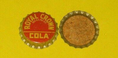 (1) 1940/50s Unused NOS Royal Crown Cola Cork Lined Soda Bottle Cap Nice!