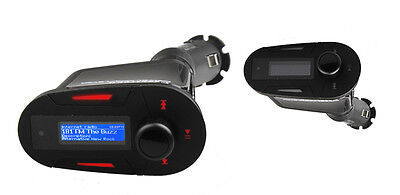 Car Kit MP3 Player Wireless FM Transmitter Modulator USB SD MMC LCD with Remote on Rummage