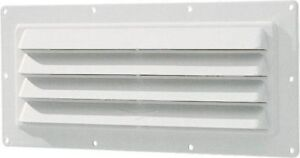 Ventline White Exterior Sidewall Range Hood Vent with Louvered Front