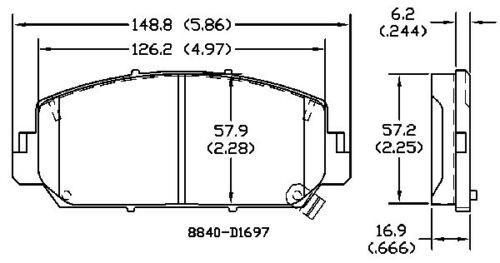 Disc Brake Pad Set Front OMNIPARTS 13057208