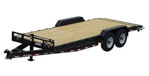 Flat deck car haulier  trade for hay