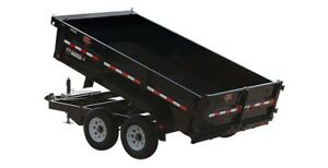 I'm looking for a tilting dump box trailer double or triple axle