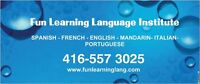 SPANISH, ENGLISH, FRENCH, PORTUGUESE AT FUN LEARNING LANGUAGES