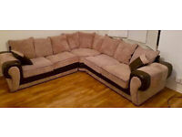 Large Corner Sofa Beige/Brown. Very good condition. Delivery available