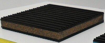 12 Anti Vibration Isolation Pad Rubber/cork 6x6x7/8 Heat Pump Washer Compressor