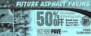 Paving and Asphalt Future Paving in the HRM Discounts NOW