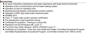 Looking for work in Building Maintenance/Repairman field.
