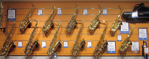 WE HAVE SAXOPHONES! SELMER, YAMAHA, P. MAURIAT AND MANY MORE!