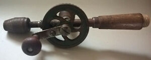 Antique Hand Drill - Wooden Handles