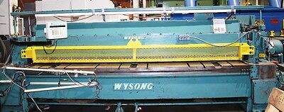Wysong Mechanical Power Shear Model 1225 14 X 12ft Used