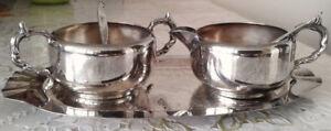 Viking Plate Tea/coffee Set Silver plated Bronze canada