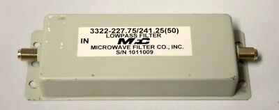 Fc Microwave Lowpass Filter 3322-227.75241.25 50 - New Old Stock