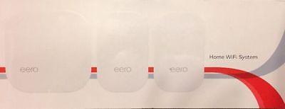 Eero Home WiFi System (1 eero + 2 eero Beacons), 2nd Gen - White M010301 (NEW)