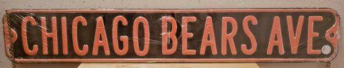 "CHICAGO BEARS AVE Black & Orange Sign 36 X 6 1/16"" Gauge in Original Wrapper PO"