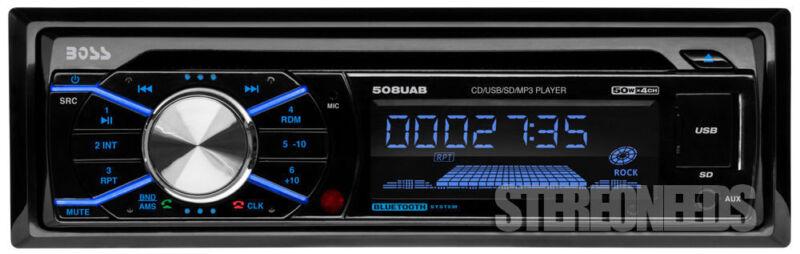 BOSS 508UAB IN-DASH CAR RECEIVER/RADIO/CD/MP3/AM/USB/AUX PLAYER A2DP BLUETOOTH