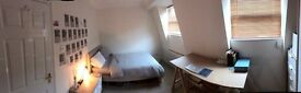 Newly decorated, airy double room available immediately in spacious luxe house in Haggerston