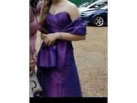 Purple sequin prom dress