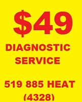 Furnace Repair, HRV, Fireplace, Water heater SALE  Own $35/month