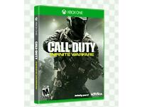 Call of duty infinite warfare xbox one game mint in box sons only played it once or twice