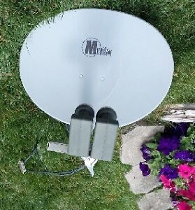 22 inch Satellite: 2 L&B's, Receiver, Remote, and Cables
