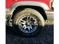 "6 stud 4x4 17"" alloys wheels"