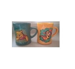 The Disney Store Tiger & Winnie The Pooh Embossed Mugs