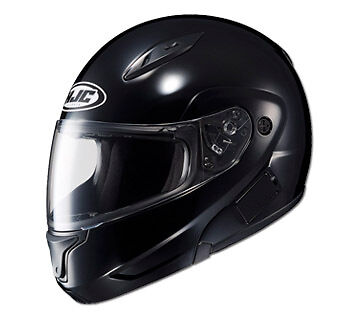 HJC HELMETS CL-MAX II MOTORCYCLE STREET RIDING SOLID BLACK GLOSS XS-5XL (Cl Max Modular Motorcycle Helmets)