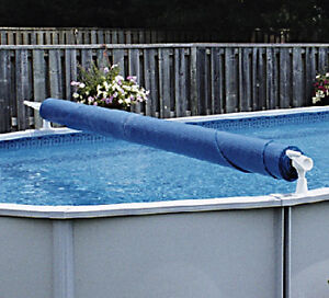 Above Ground Solar Pool cover Roller 24 ft Pool - Used