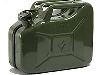 10 l Green Metal Jerry Can - Unused, as new